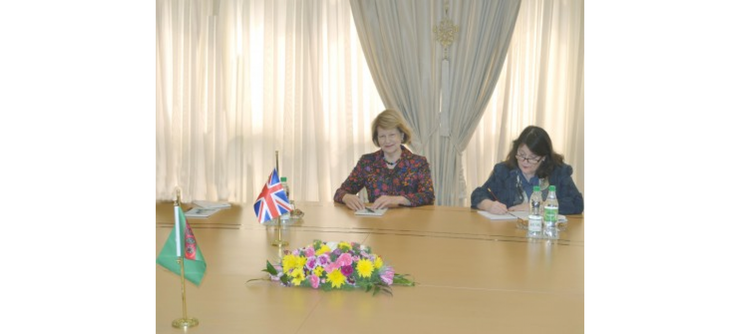 MEETING WITH THE DELEGATION OF THE UK AT THE MINISTRY OF FOREIGN AFFAIRS OF TURKMENISTAN